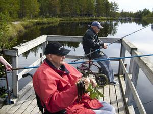 Gnarpsborna  Alvar Bylin t.v och Stig Andersson trivdes som fisken i vattnet.