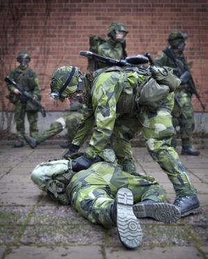 Här har man fångat en fientlig soldat.