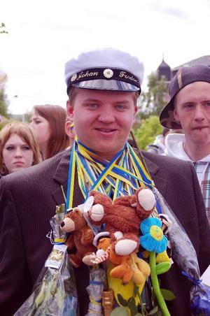 – Skönt att man är klar med gymnasiet, tyckte fordonseleven Johan Eriksson från Sveg.Foto: Leif Eriksson