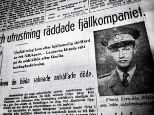 Fänriken Sven-Åke Sihlén, som på eget bevåg gav sig ut och letade efter den försvunna styrkan.