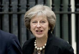 Den nya, konservativa, premiärministern i Storbritannien Theresa May.