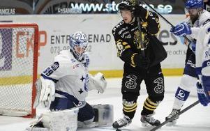 Oscar Alsenfelt stod för en ny bra insats men tvingades kapitulera i straffläggningen. Foto: Erik Mårtensson / TT