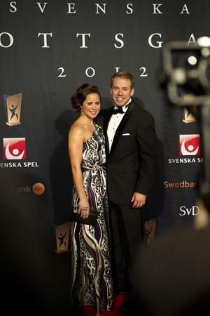 Anna Haag och Emil Jönsson på plats vid Idrottsgalan.