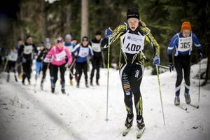Häggenåsåkaren Maria Andersson var näst snabbaste dam på den korta banan.
