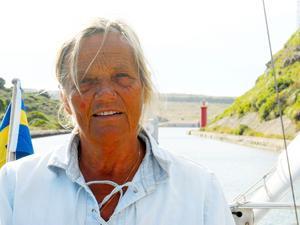 Margit Vrba från Nynäshamn ser fram mot seglatsen. Foto: Privat