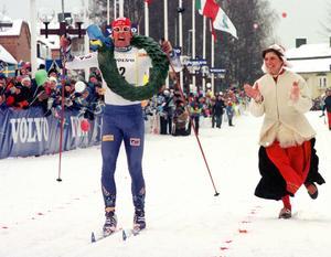 Staffan Larsson vinner Vasaloppet 1999.