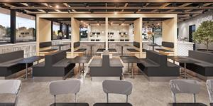 Restaurangen vid södra E4-infarten kommer att ha 130 sittplatser.
