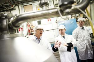 Staffan Eklöv, Frank Fiskers och Magnus Johansson berättade stolt om Grådö mejeri och dess potential.
