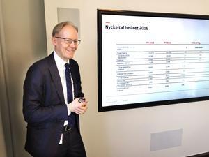 Johan Söderström, vd för ABB Sverige, är bland annat nöjd med att tillväxten är stark för tredje året i rad.