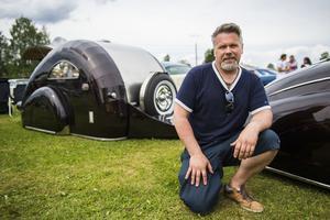 Jan Lundells specialbyggda husvagn höjde många ögonbryn.