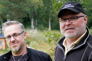 Micke Färlin och Micke Hansson, Ljusdals fiskevårdsområde, blev något överraskade av filmen från fiskscannern.