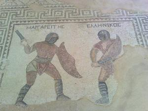 SEMESTERBILDER. Afrodites steniga strand. Gladiatorer i Kourion. Vardagsbild i det antika Pafos.