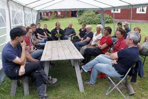 Knapp 30 personer totalt samlades på Kristofers, alla jordbrukare eller kunniga i ämnet.