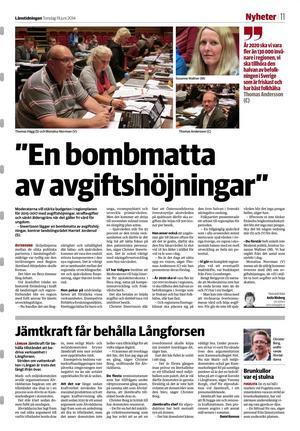 Länstidningen den 19 juni 2014.