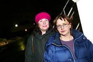 Foto: ANNAKARIN BJÖRNSTRÖM Petade. Ann Hedbom och Helene Åkerlind är bokstavligt talat ute i kylan. En mobbningsprocess, hävdar Ann Hedbom, som petas från posten som ordförande i kultur- och fritid.
