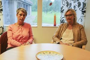 Denise Wallén (till höger) är chef för socialförvaltningen i Härjedalen, här tillsammans med Anna-Lena Andersson (S), ordförande i socialnämnden och högst ansvariga politiker för socialförvaltningen.