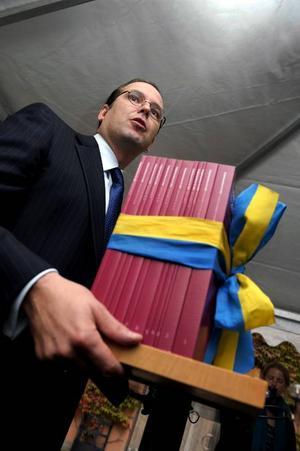 Finansminister Anders Borg hade inga konkreta satsningar att bjuda Jämtlands län när han på måndagen presenterade sin höstbudget. Foto: janerik henriksson / scanpix