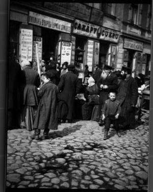 Marknad i Warszawa, Polen 1903.   Foto: Anders Zorn