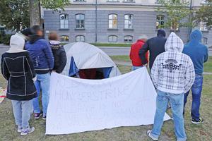 I september 2014 inledde albanerna sin hungerstrejk. De ville inte att deras ansikten skulle synas på bild.