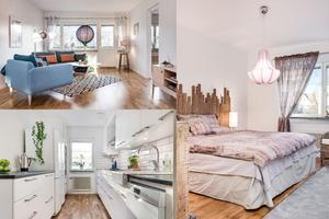 På Bergmästaregatan 16A ligger den här lägenheten med tre rum.