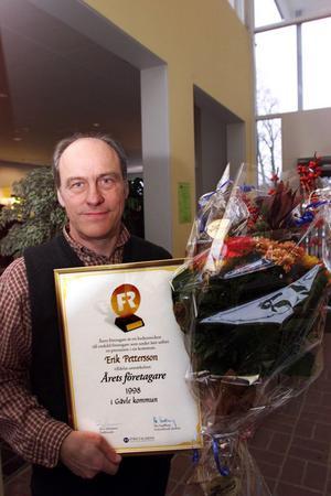 1999 blev Erik utsedd till Årets företagare i Gävle kommun