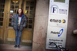 Elena Andersson är en av de som blir uppsagda när Eniro lägger ner verksamheten i Östersund.