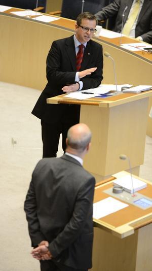 Mikael Damberg och Fredrik Reinfeldt.