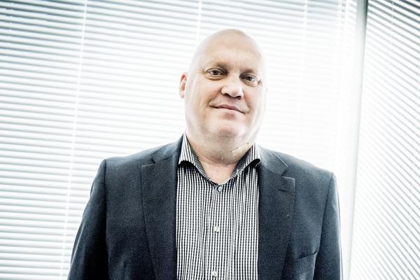 Johan Carlström, storägare i Fingerprint Cards, ett företag som utvecklar och tillverkar  fingeravtrycksläsare.