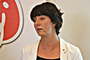 Matilda Ernkrans (S) presenterade höstens budgetproposition.