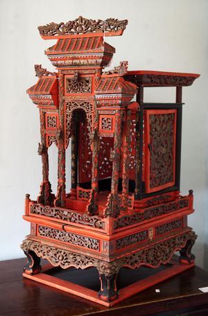 Ett träskuret kinesiskt tempel från Qing-dynastin kanske snart pryder något Borlängehem.