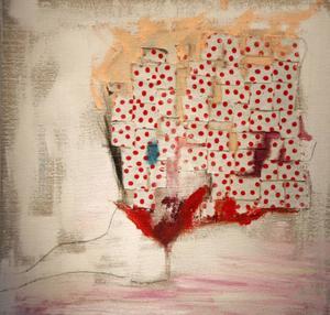 """""""De 17 verken som visas är alla små explosioner av färg och udda material."""""""
