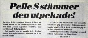 Nyheten att det blir ett åtal mot den misstänkte mannen får genomslag i hela landet. Att väcka enskilt åtal är ovanligt både nu och då det kom 1984.