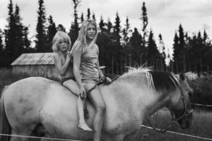 Modernt fäbodliv i Klövsjö, Jämtlands län.