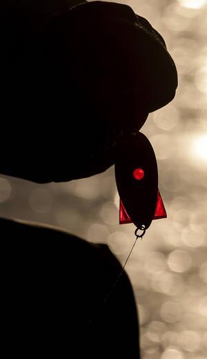 Ett stort rödingblänke fungerar lika bra på röding, öring och regnbåge för IngMarie Larsson.