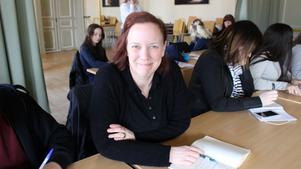 Åsa Backeus jobbar på Söderbaumska skolan i Falun.