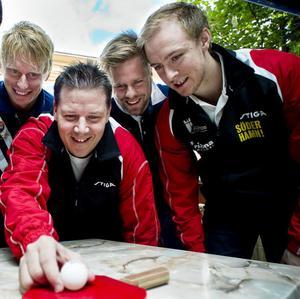 Hampus Nordberg, Peter Blomquist, Jon Persson och Viktor Brodd.