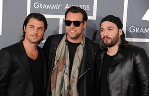 Axwell, Sebastian Ingrosso och Steve Angello under sitt sista år som gruppen Swedish house mafia – 2013.