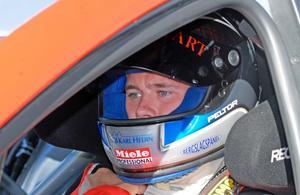 Dala-Järna-killen Roger Eriksson kom trea i lördagens andra STCC-race.