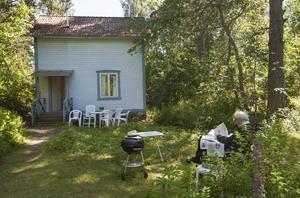 Det blå huset på Runmarö. Det var här, i skärgården, som Tomas Tranströmer kände sig hemma.