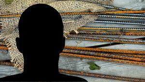 Skräckpappan misshandlade bland annat barnen – som han bundit fast –  med armeringsjärn. Bilden är ett montage.