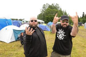 Petri Kuusisto och Jari Kuusisto hade åkt från Sala för Gefle Metal Festival. Sammanlagt väntas mellan 3-4000 besökare under festivalen.