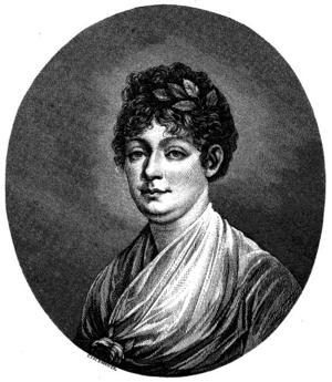 Poeten Anna Maria Lenngren, född 1754 i  Uppsala, död 8 mars 1817.