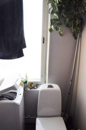 Kalluft sipprar in från lägenhetens alla fönster, så även från badrummets fönster. Men eftersom toalettstolen är för hög går inte badrumsfönstret att öppna så pass mycket att Mats själv kan sätta dit en tätningslist.