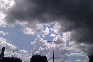 Himlen, strax innan ovädret kom.