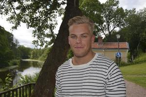 Adam Lönnberg drömmer om en framtid som ortopedkirurg på Karolinska i Stockholm. Foto: Sahel Noroozi