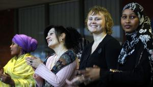 LYCKAT PROJEKT. Susanne Svanberg (andra från höger) har varit projektledare för