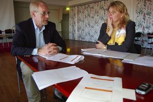 Näringslivsmöte. Carl Ström, regionchef Svenskt Näringsliv och Gunilla Jacobsson, näringslivsansvarig Rättviks kommun och företagsklimatet i Rättvik.
