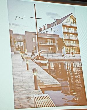 Närheten till Storsjöns vatten och gröna ytor i en stadsdel med energieffektiva hus. Det kan bli Storsjö strand.