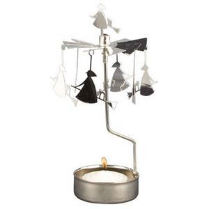 Hos designrummet.se hittar du en modern version av klassikern änglaspelet där änglarna fått ge vika för påskkärringar och katter på kvastskaft.  Priset är 79 kronor.