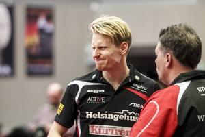 En bister min från Hampus Nordberg efter ligamötet med Halmstad i februari månad.